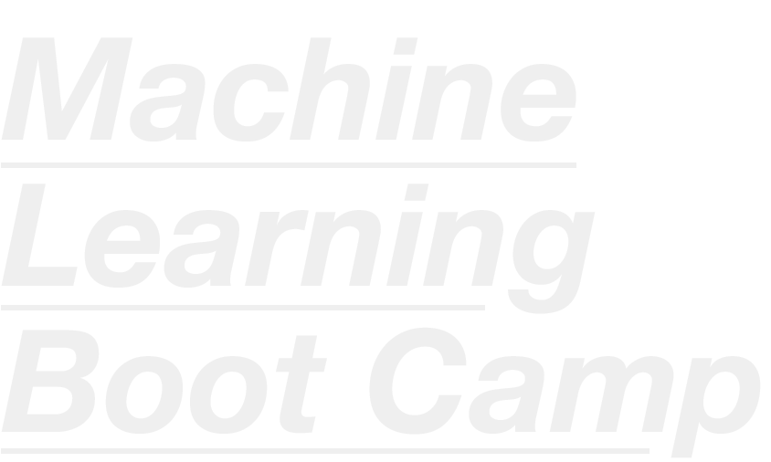 machine learning boot camp